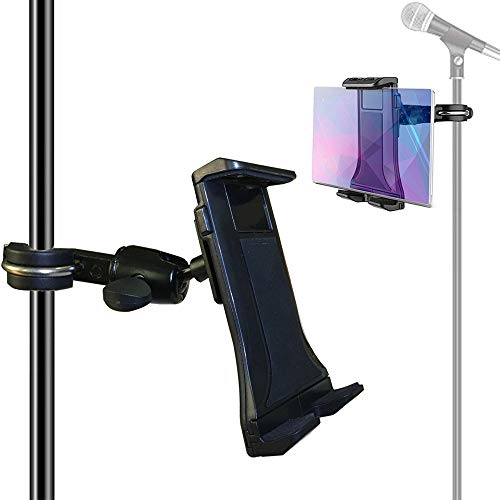 Etubby 4-12.5 Inches Music/Microphone Stand Tablet Holder Aluminum Alloy Phone Holder Cradle Mount for Apple iPhone iPad, Google Nexus, Galaxy Tab and Any Other 4-12.5 Smartphones & Tablets