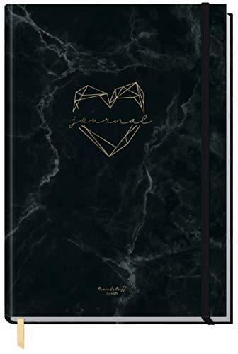 Trendstuff by Häfft notatnik w kropki, format A5, z gumową taśmą [Marble Heart], 156 stron, notatnik w kropki, pamiętnik od Trendstuff by Häfft, ekologiczny i neutralny dla klimatu