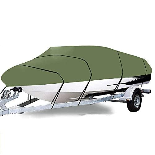 Funda para Barco Funda para Barco Jumbo Premium Heavy Duty 420D Funda para Barco Remolcable Pesca Esquí Barco Marino Funda para Yate Extiende La Vida Útil De La Funda para Barco Verde 17~19Ft