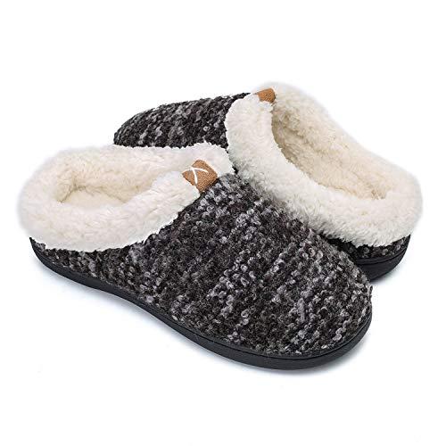 OUSIMEN Zapatillas Casa Hombre Mujer Invierno Calido Zapatillas Memory Foam Slipper Ultraligero cómodo y Antideslizante Zapatilla de Estar por casa para Mujer Zapatillas de Interior