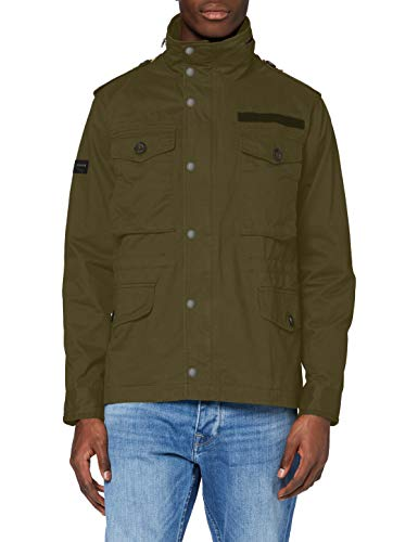 Superdry Mens Field Jacket, Authentic Khaki, X-Large