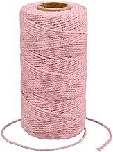 G2PLUS Roze Katoen String Twine, 100 M Gift Wrapping Bakers String, 2 MM Handwerk Decoratieve Cord Twine voor DIY Gift Dec...