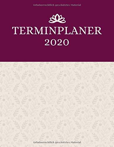 Terminplaner 2020: Praxisplaner mit viertelstündiger Einteilung für Termine | Terminbuch & Tagesplaner Januar bis Dezember 2020 | Von 7.00 Uhr bis 20.00 Uhr