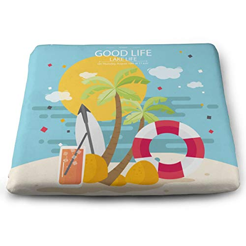 BriaPa Lake Life is The Best Life Love Memory Cotton Seat Cushion Desk Chair Cushion As Sciatica Pillow for Sitting Car Seat Cushion Donut Pillow for Tailbone Pain Relief-64