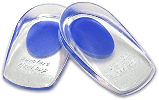 1 Pair Heel Cups Silicone Gel Ankle Heel Pain Relief Cushion Insole for Men Women Size S