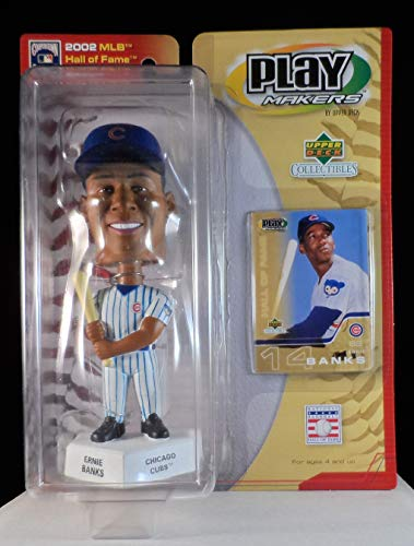 2002 Upper Deck Play Makers Ernie Banks Chicago Cubs Bobblehead