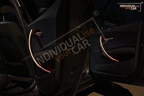 EL Ambiente Lichtleisten Ambientebeleuchtung für 1er E81 E82 E88 - Türen (Amber)
