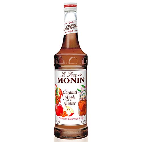 Monin - Caramel Apple Butter Syrup, Buttery Caramel and Cooked Apple Flavor, Natural Flavors, Great for Hot Lattes, Ciders, and Seasonal Cocktails, Non-GMO, Gluten-Free (750 ml)