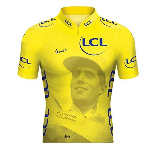 Tour France Maillot Jaune Cyclisme Vêtements De Cyclisme 100 Ans Ciclismo Jersey VTT Zzzb (Color : Cycling Jersey, Size : XXL)