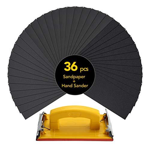 Sandpaper Set (120 To 3000 grit) including Sandpaper holder