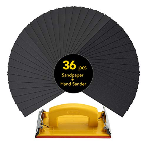 Sandpaper Set (120 To 3000 grit) including Sandpaper holder