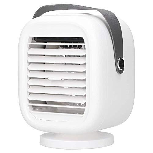 Enfriador de aire portátil, Mini aire acondicionado, refrigeradores evaporativos, humidificador, ventilador de refrigeración de escritorio, unidad de aire acondicionado para oficina en casa,Blanco
