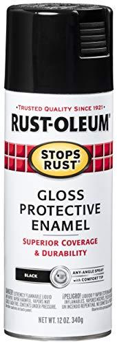 Rust-Oleum 7779830-6PK Stops Rust Spray Paint, 12 Oz, Gloss Black, 6 Pack