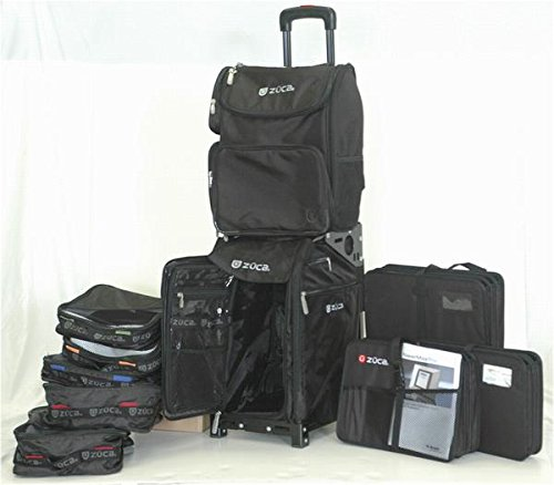 ZUCA Duo: Pro Travel with Black Frame and Business Backpack and 3 Document Organizers.