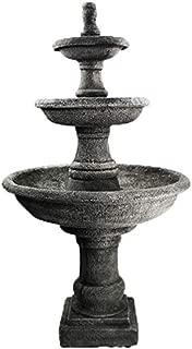 Water Fountain Renaissance Three Tier Fountain Cement Water Feature Concrete Garden Fountain Cast Stone European Yard Fountain