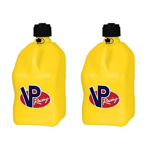 VP Racing Fuels Motorsport 5 Gallon Square Plastic Utility Jug Yellow (2 Pack)