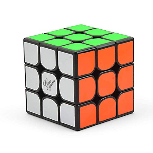RENFEIYUAN Pegatina PVC Magnetic DIY MA Profesional, Negro Rubik Cubo