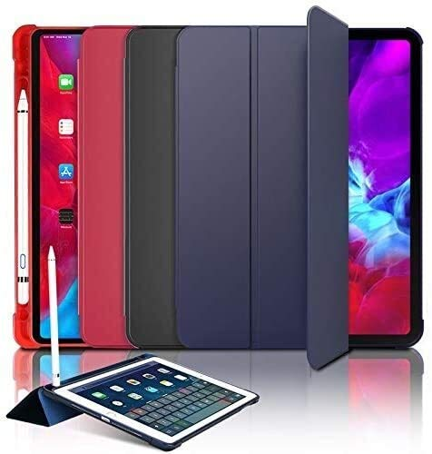 WSGYX Tab Accessories for IPad 2018 9.7 Air 2 Air 1, Pencil Holder Light PU Leather+PC Hard Back Smart Cover for Ipad (Color : Red)