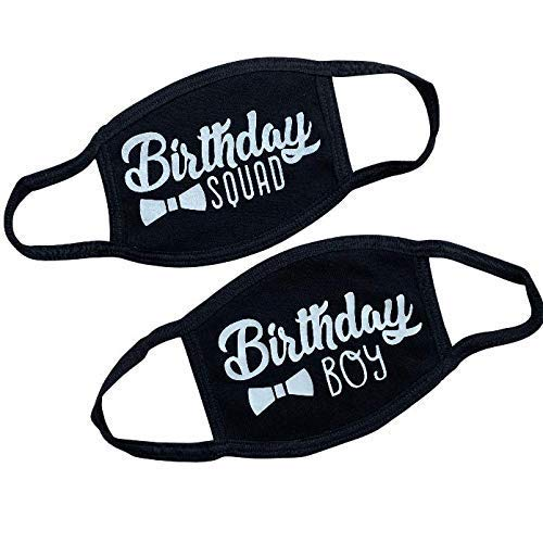Birthday Face Mask, Quarantined Birthday Face Mask for Boys, Men's Birthday Face Mask, Birthday Gift for Him