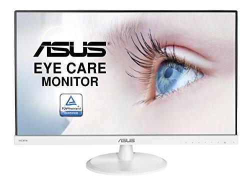 Asus VC239HE-W 58,42 cm (23 Zoll) Monitor (Full HD, Eye-Care, VGA, HDMI, 5ms Reaktionszeit) weiß