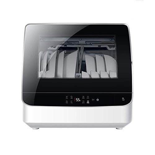 FGH QPLKKMOI Compact Countertop Dishwasher, Portable Dishwasher, Dry and Storage Large-Capacity Energy Saving