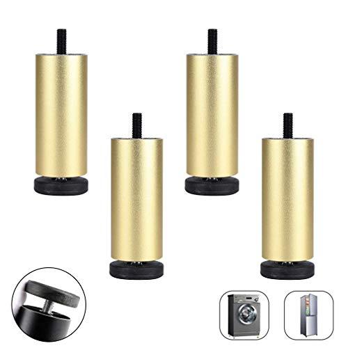 AT Aluminiumlegierung Möbel-Badezimmer-Schrank Beine, Einstellbarer Sofa Unterstützung Beine, Kühlschrank Füße, Waschmaschine Füße, M8 Gewindestange, Justierbarer 0-8Mm, 3 Farben, 8 Größen (,