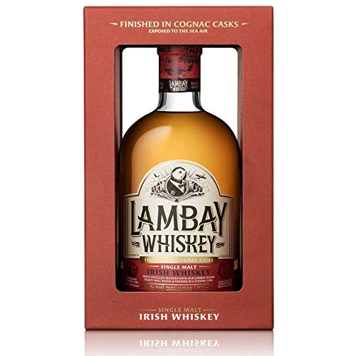 Lambay Single Malt Whiskey - Irish Whiskey, Medaillengewinner, nicht torfig, dreifach destilliert - 40° 70cl - Saint Patrick Deal