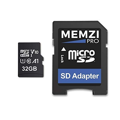 MEMZI PRO 32GB 100MB/s V10 Micro SDHC Memory Card for Apeman A80, A79, A77, A70, A66, A60 Action Cameras - Fast Class 10 U1 HD Recording with SD Adapter