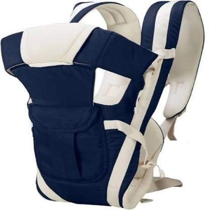 Mom's Pride Adjustable Hands-Free 4-In-1/baby Carry Bags/Baby sefty Belt/Kid Carry Bag/Baby Sling/Back Baby Carrier/Front Carrier for babykids Carrier Belt/Buckle Straps (Navy BLUIE)