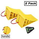Homeon Wheels RV Camper Large Wheel Chocks with Handle and Rope for Safety-Car Chocks, Tir...