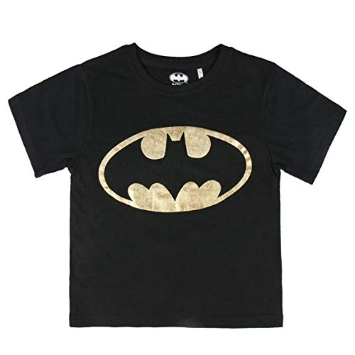 Cerdá Camiseta Manga Corta Premium Batman, Negro (Negro C0, 8 para Niños