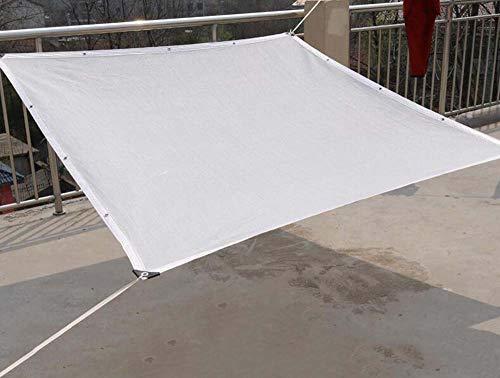 Sunscreen net Filet Pare-Soleil Blanc à 8 Broches, Filet Vert Pare-Soleil pour Plante Verte, écran Anti-poussière pour Voiture dans la Cour intérieure, taux de Protection Solaire 90%