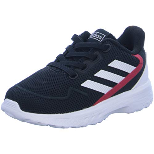 Adidas NEBZED I, Zapatillas Running Bebé, Negro (Core Black/FTWR White/Scarlet)