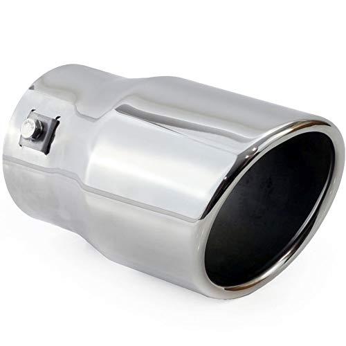 Auspuffblende Endrohr Endstück Auspuffendrohr Edelstahl Rund 90 mm für Auspuffrohr 48-66 mm UNIVERSAL Neu MT007