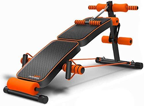 LDM Verstellbare Sitzbank Slant Board Pro Ab, verstellbares Workout Abdominal Exercise Multifunktionsbank Board (Falten + Treten) Multifunktional