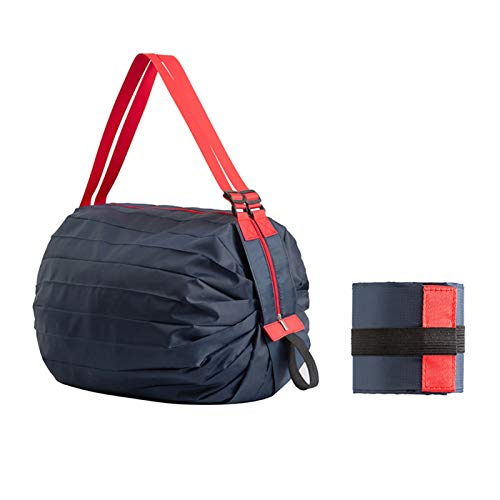 laoonl Bolsas de la compra reutilizables, plegables, ligeras, de gran capacidad, resistentes al agua, con asa de nailon, perfectas para camping