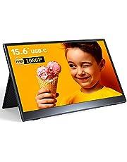 モバイルモニター 15.6インチ 5㎜超薄型 モバイルディスプレイ 1080P IPS液晶モニター 178°全視野 内蔵スピーカ Type-C(2つ)/mini HDMI入力 3.5mmオーディオ端子 670g軽量 100%sRGB広色域 保護カバー付き PS4/XBOX/Switch/PC/Macなど対応 日本語説明書付き PSE認証済み 3年品質保障