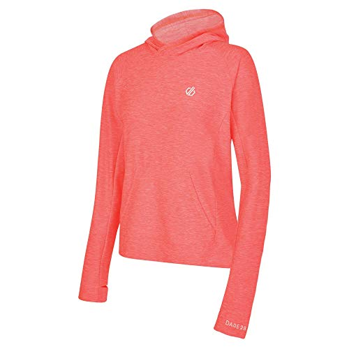 Dare 2b CTY Hoodie Sprint City - Sudadera Deportiva con Capucha para Mujer, Mujer, DWT456 2CC20L, Fiery Coral, FR : 3XL (Taille Fabricant : 20)