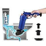 SOMOLOTO Air Pressure Toilet Plunger, Air Drain Blaster, Pump Cleaner, Air Power Drain Blaster Gun for Toilet, Bathtub, Sink, Floor Drain, Bathroom, Kitchen Clogged Pipe