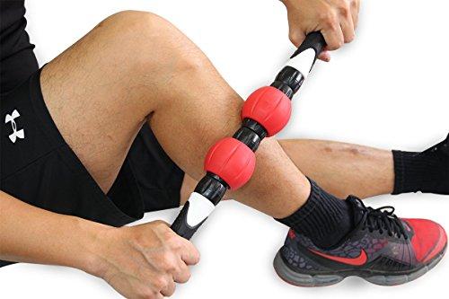 Balance1 Premium Muscle Massage Hand Roller-Massage Stick with 2 Strengthen Rings