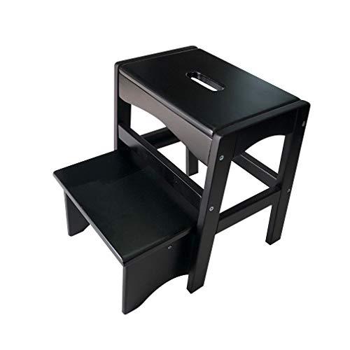 Preisvergleich Produktbild G.F. 2-Step Hocker aus massivem Holz kann alleine verwendet Werden Schuhbank Kindersitz Ascend Hochstuhl (Farbe : A,  größe : S)