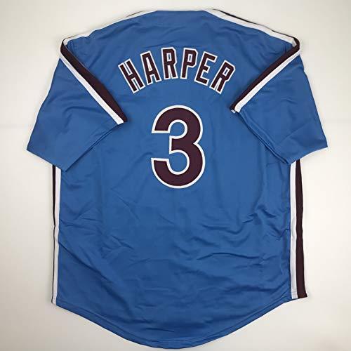 Unsigned Bryce Harper Philadelphia Retro Blue Custom Stitched Baseball Jersey Size Men's XL New No Brands/Logos