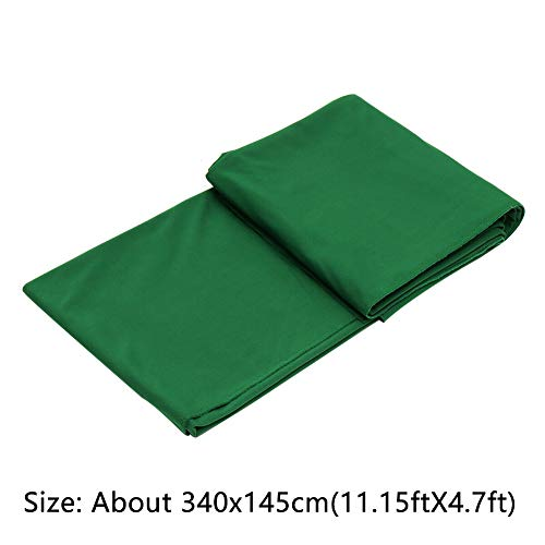 MOIAK Billardtischdecke, Billardtisch Filz Billardtuch für Bars/Clubs/Hotels 7 oder 8 ft Tisch, Billard Pool 8 Ball Tischdecke Filz Größe ca. 340x145 cm / 11,15x4,7 Fuß, nicht Null, grün