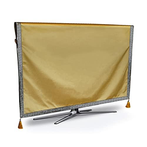 HWNGDI TV Cubierta de Polvo de Lujo de Lujo a Prueba de Intemperie a Prueba de Polvo a Prueba de Polvo de Plasma Televisión de Tejido Tabla Corredor Tapa de Tela Mujer CUBITA CUBIERTE Durable