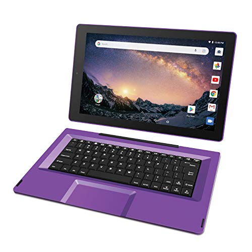 "2018 Newest Premium High Performance RCA Galileo 11.5"" 2-in-1 Touchscreen Tablet PC Intel Quad-Core Processor 1GB RAM 32GB Hard Drive Webcam WiFi Bluetooth Android 6.0-Purple"