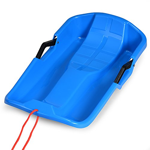 FITNATE Winter Durable Plastic Snow Sled in Boat Shape Snow...