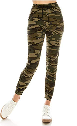 MUKHAKSH Women's & Girls' Regular Fit Joggers (Women Camouflage Print...