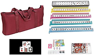 American Mah Jongg Complete Set , 166 Tiles with All in one Combo Rack with Soft Bag