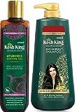 Kesh king Ayurvedic Onion Oil Non Sticky Anti Hair Fall Hair Growth Oil 200ml & Kesh King Scalp and Hair Medicine Anti-Hair fall Shampoo 600ml