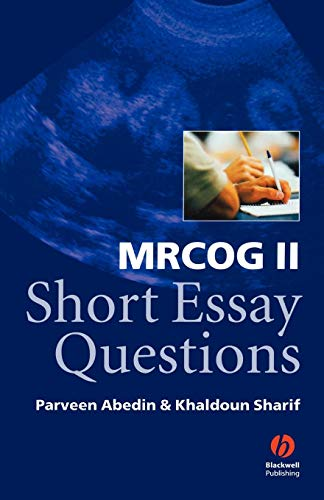 Download MRCOG II Short Essay Questions 1405100206